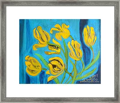 Dying Tulips Framed Print