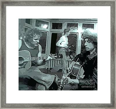 Dylan And Lightfoot Abstract At House Party Framed Print