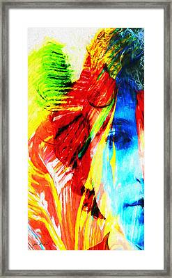 Dylan Goes Electric Framed Print by John Farr