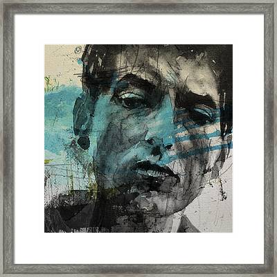 Dylan - Retro  Maggies Farm No More Framed Print by Paul Lovering