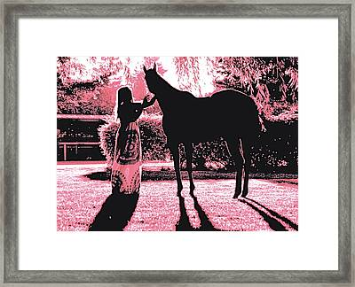 Dylly And Lizzy Pink Framed Print by Valerie Rosen