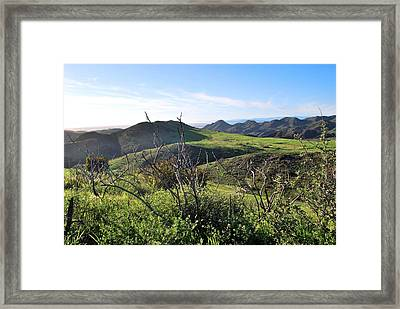 Framed Print featuring the photograph Dynamic California Landscape by Matt Harang