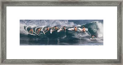 Dynamic Carve Framed Print