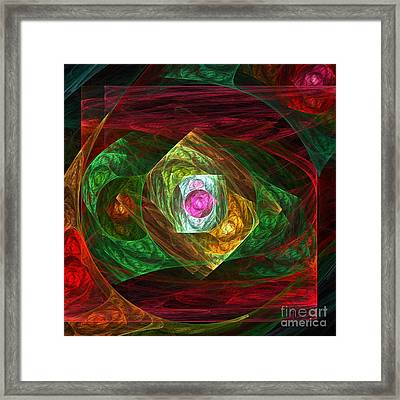Dynamic Connections Framed Print by Oni H