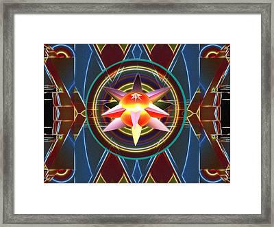 Dynamic Star Spinner Framed Print