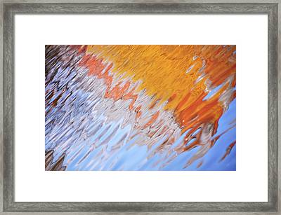 Dynamic Water Abstract Framed Print by Jenny Rainbow