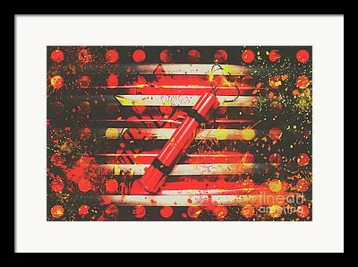 Pyrotechnics Framed Prints