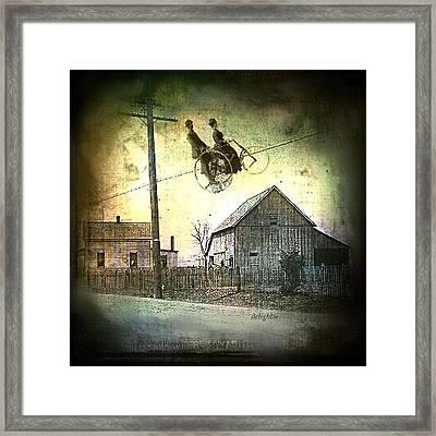 Framed Print featuring the digital art Dynamite Barn by Delight Worthyn