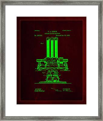 Dynamo Electric Machine Patent Drawing 1i Framed Print by Brian Reaves