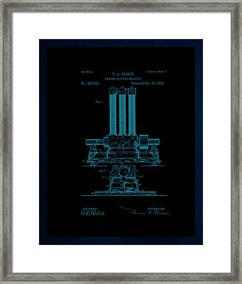 Dynamo Electric Machine Patent Drawing 1j Framed Print by Brian Reaves