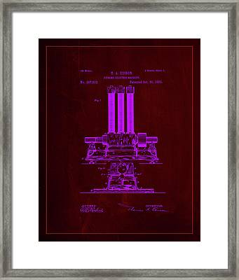 Dynamo Electric Machine Patent Drawing  Framed Print by Brian Reaves