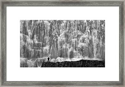 Framed Print featuring the photograph Dynjandi Daredevil No. 2 by Joe Bonita