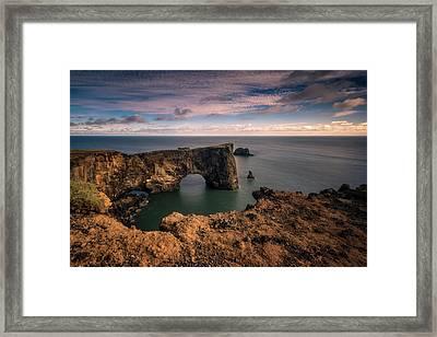 Dyrholaey Arc Framed Print by Tor-Ivar Naess