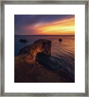 Dyrholaey Sunset Framed Print