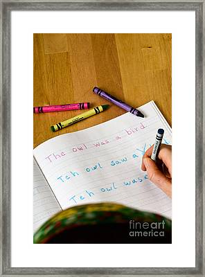 Dyslexia Testing Framed Print by Science Source