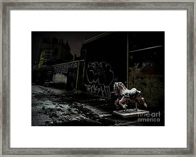 Dystopian Playground 1 Framed Print by James Aiken