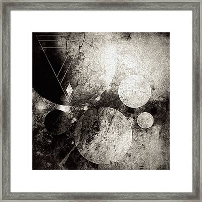 Dystopian Space Framed Print by Susan Maxwell Schmidt
