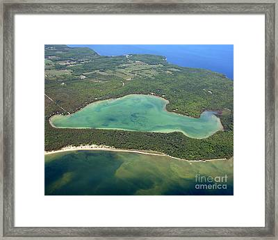 E-002 Europe Lake Door County Framed Print by Bill Lang