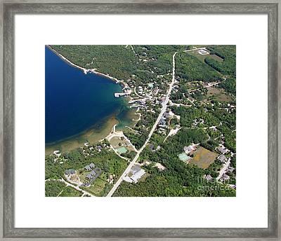E-005 Ellison Bay Wisconsin B Framed Print
