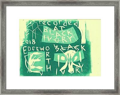 E Cd Green Framed Print
