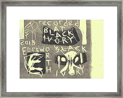 E Cd Grey Framed Print