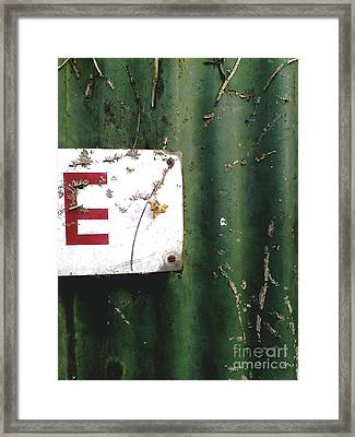 Framed Print featuring the photograph E by Rebecca Harman