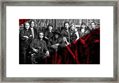 E Street Band Collection Framed Print