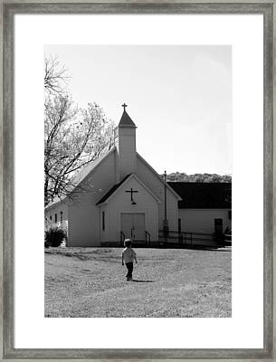 E-to-the-church Framed Print