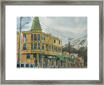 E Trail Framed Print by Pete Maier