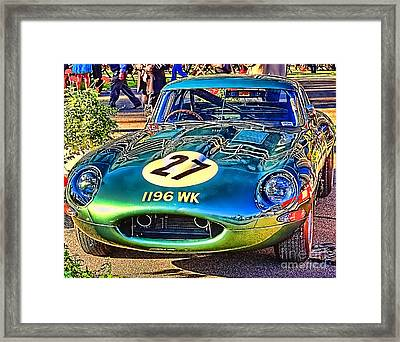 Framed Print featuring the photograph E-type - Colour I by Jack Torcello