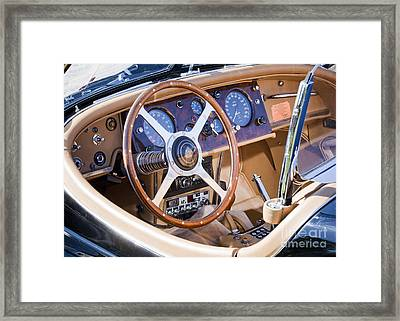 E-type Jaguar Dashboard Framed Print