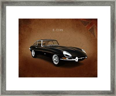 E Type Jaguar Framed Print by Mark Rogan