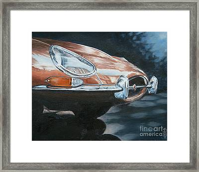 E-type Jaguar Framed Print by Pauline Sharp