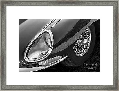 Framed Print featuring the photograph E-type Monotone by Dennis Hedberg