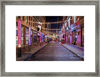 E.4th Lights Cleveland Framed Print