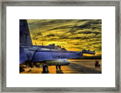 Ea-18g Growler Sunset Framed Print