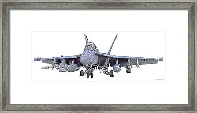 Ea-18g Up And Ready Framed Print by Clay Greunke