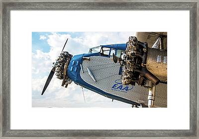 Eaa Ford Trimotor Aircraft Framed Print