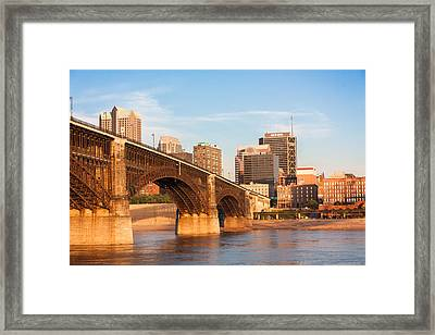 Eads Bridge At St Louis Framed Print