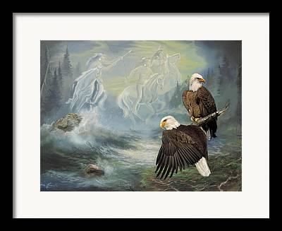 Eagle In The Sky Framed Prints