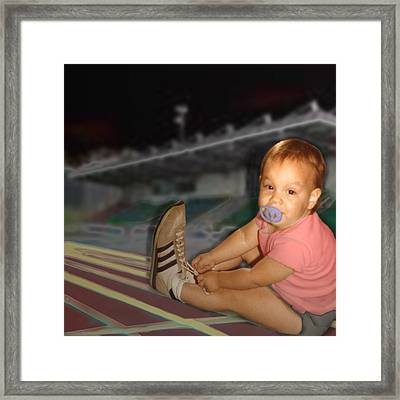 Eager Framed Print by Laila Talley