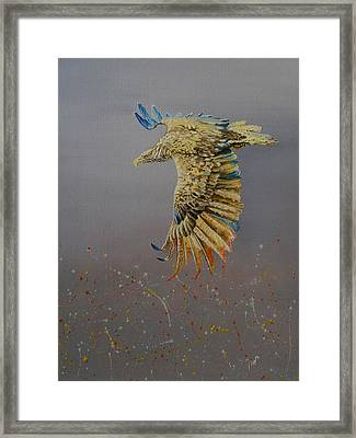 Eagle-abstract Framed Print by Maria Woithofer
