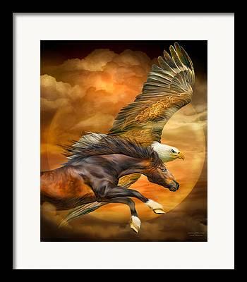Equine Mixed Media Framed Prints