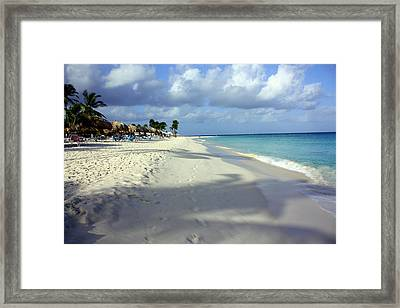 Framed Print featuring the photograph Eagle Beach Aruba by Suzanne Stout