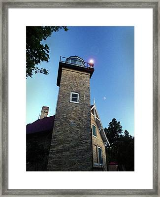 Eagle Bluff Light Framed Print by David T Wilkinson