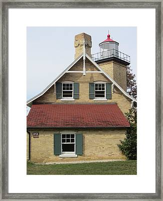 Eagle Bluff Light Framed Print by Melinda Stogsdill