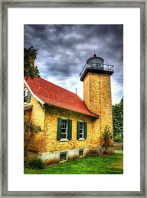 Eagle Bluff Lighthouse 2 Framed Print by Robert Storost