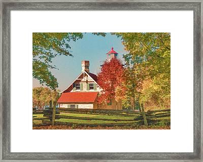 Eagle Bluff Lighthouse_1 Framed Print