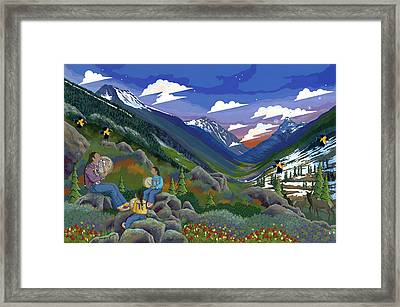 Framed Print featuring the painting Eagle Boys Learn To Sing by Chholing Taha