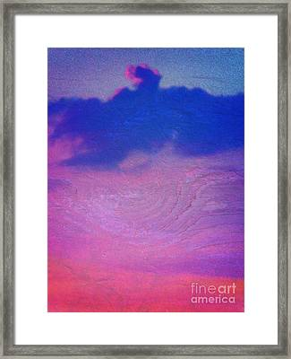 Eagle Cloud In The Sky Framed Print by Rose  Hill